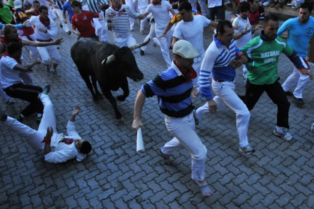 Bill Hillmann Running With Bulls.