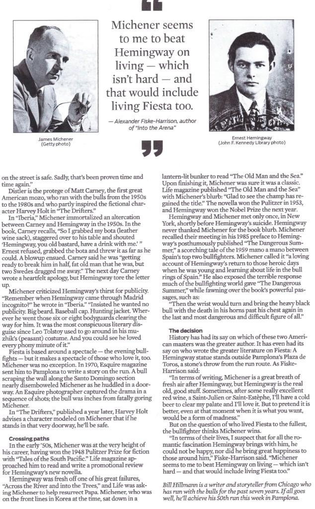 Bill Hillmann Chicago Tribune Article